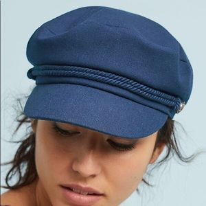 Anthropologie navy engineer hat NWOT
